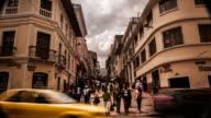 centro historico en quito ecuador video
