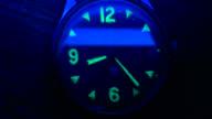 XX century military luminous watch time-lapse video