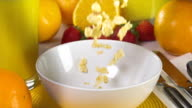 Cereal Being Poured Slow Motion Breakfast video