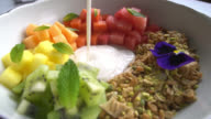 Cereal for breakfast - healthy eating concepts video
