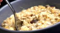 Cereals muesli video