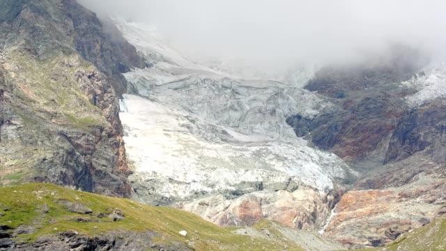 Cervinia glaciers time lapse video