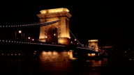 Chain bridge in Budapest - Hungary at night video