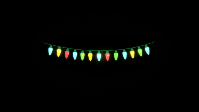 Chain of Lights on a Black Background video