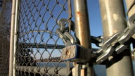 Chained Fence & Lock video