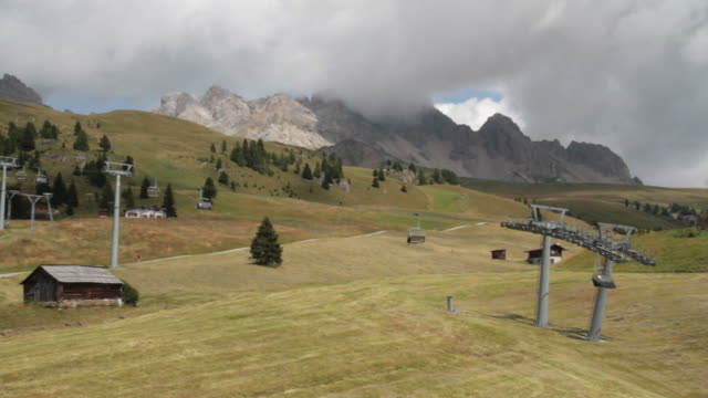 Chair lift in San Pellegrino Pass (Costabella) video