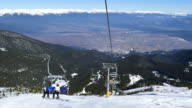4K Chairlift in ski resort video