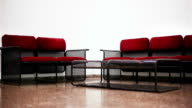 Chairs and table in a waiting room video