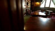 Chairs And Tables In The Pub video
