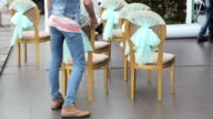 Chairs at wedding ceremony video