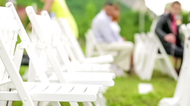 Chairs For Guests At Wedding video