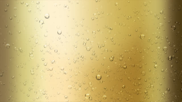 Champagne bubbles. Loopable with alpha matte. video