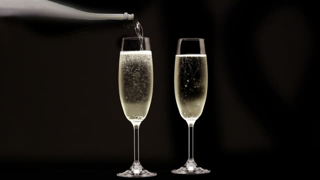 Champagne Flutes - HD Cinemagraph video
