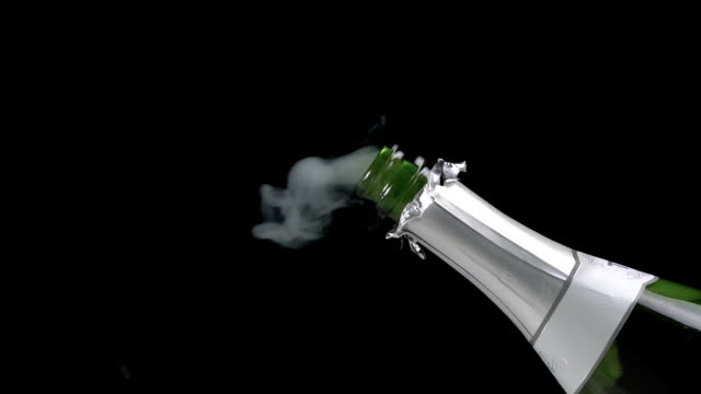 Champagne Opening Exploding Slow Motion video