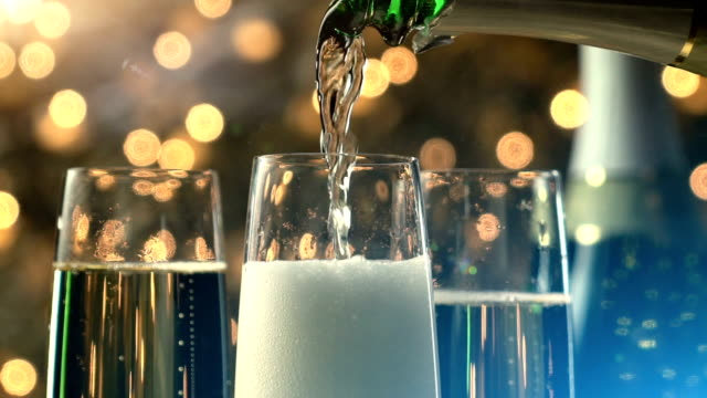 Champagne Toast Slow Motion New Years video