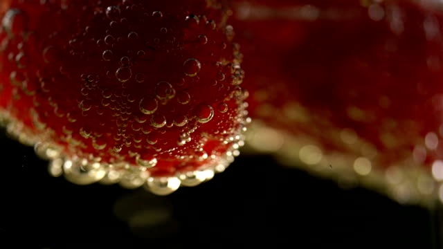 Champagne With Fresh Raspberry video