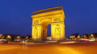 Champs Elysees at sunset in Paris France video