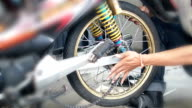 Change a motorcycle tires video
