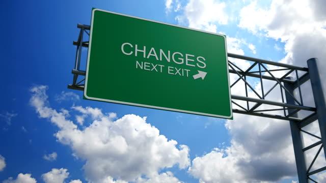 Changes - 3D Highway Exit Sign video
