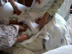 Changing Diaper / Nappy on Newborn Baby video