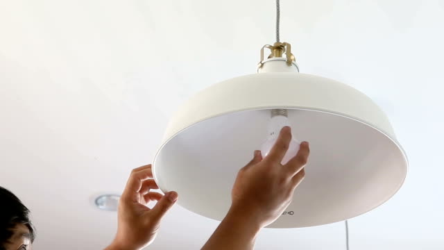 Changing LED bulb at home. video