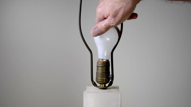 Changing light bulb video