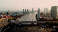 Chao Phraya River Aerial view Bangkok video