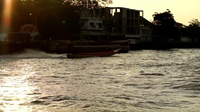 Chao Phraya River, Bangkok, Thailand Taken from ferry, Dolly shot video