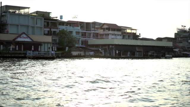 Chao Phraya River, Bangkok, Thailand Taken from ferry in morning video