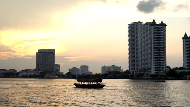 Chao Phraya River, Bangkok, Thailand Taken from the ferry video