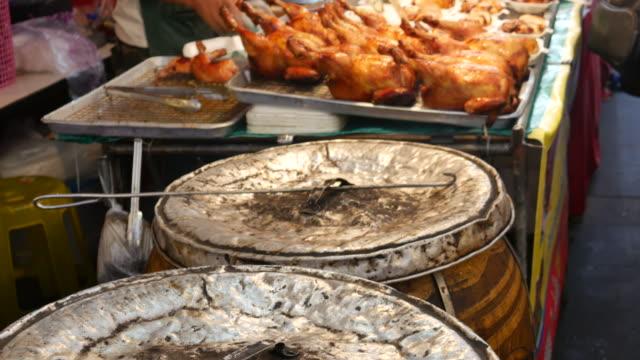 Char grilled Chicken in Jar, Street food, Thailand video