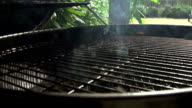 Charcoal BBQ In Action. Waiting For The Charcoal To Burn White And Ready To Cook Upon. video