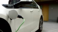 HD: Charging An Electric Car At Home video