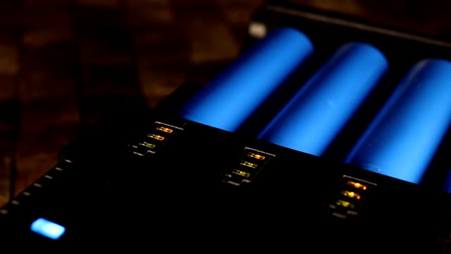 Charging rechargeable batteries. video
