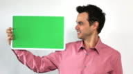Charismatic Sales Guy With Green Screen Board, Double Take video