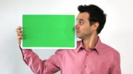 Charismatic Sales Guy With Green Screen Board, Hesitant video