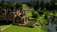 Charlecote Park - Aerial View - England, Warwickshire, Stratford-on-Avon District, United Kingdom video
