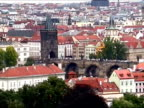 Charles bridge and Hradcany Castle in Prague video