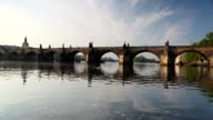 Charles Bridge in Prague at sunrise video