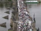 Charles bridge in Prague video