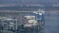 Charleston Docks  - Aerial View - South Carolina,  Charleston County,  United States video