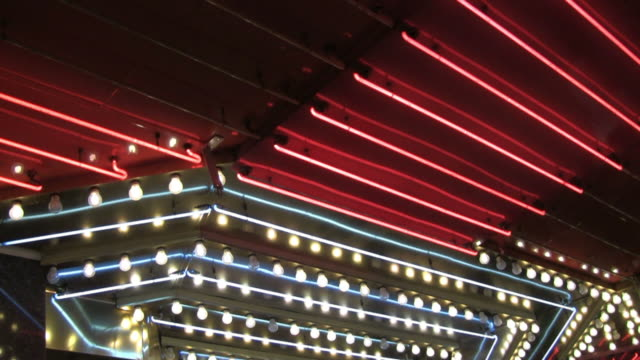 Chasing lights in casino Las Vegas video
