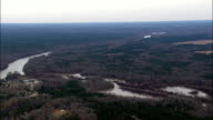 Chattahoochee River And Border With Alabama  - Aerial View - Alabama,  Russell County,  United States video