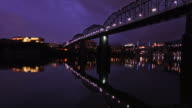 Chattanooga Skyline along the Tennessee River video