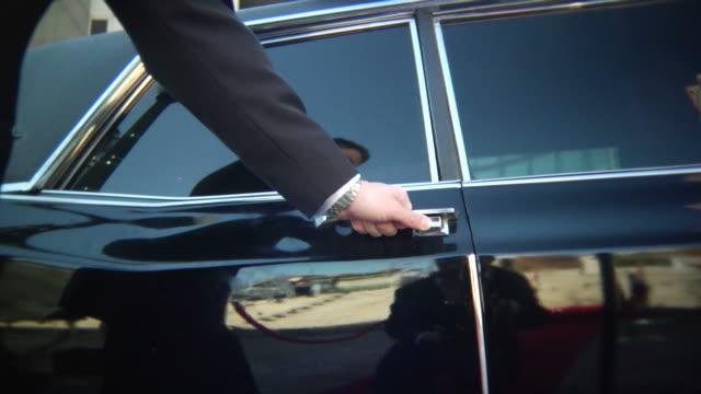 Chauffeur Opens Car Door video
