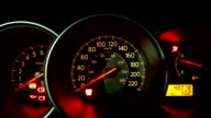 Check light warning and start engine car. video