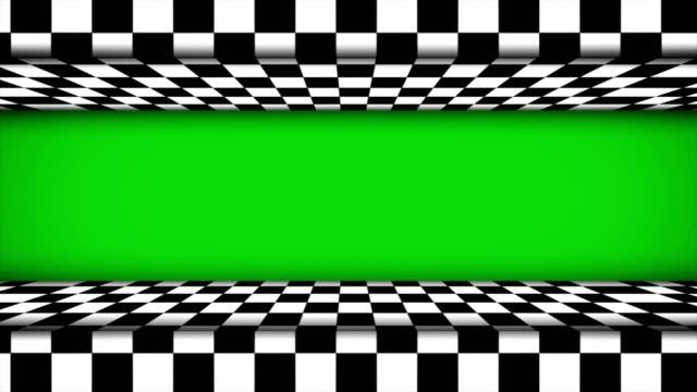 Checker Door Animation with Green Screen video