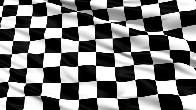 Checkered Black And White flag waving in the wind video