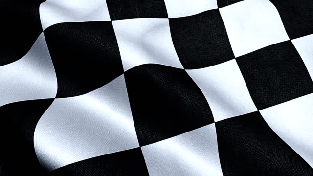 checkered flag, end race background, formula one competition video
