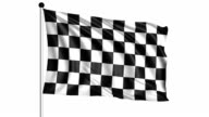 checkered flag - loop (+ alpha channel) video